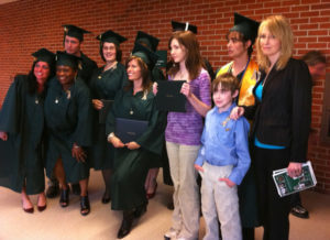 My then-husband was pursuing a degree the last couple years of his life. He took his life less than two weeks before graduation. His professors and classmates arranged for my kids to accept his diploma.