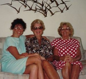 Susie with her Aunt Jo and mother