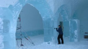 Mary Gibbons first year working at ICEHOTEL.
